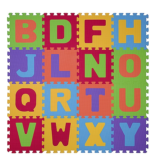 BabyOno Pěnové puzzle - Písmena - 16ks
