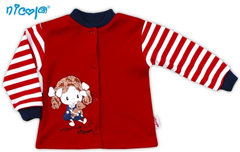 Bavlněná košilka NICOL ALA - červená s proužkem, Velikost: 56 (1-2m)