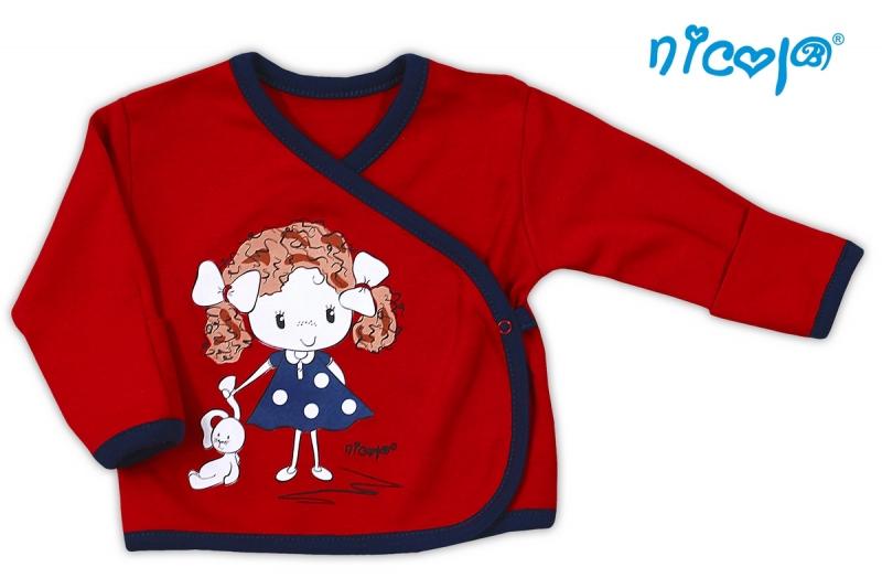 Bavlněná košilka NICOL ALA - Holčička v červeném, Velikost: 68 (4-6m)