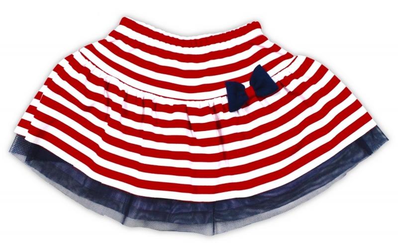 Tutu suknička NICOL ALA - červená s proužkem