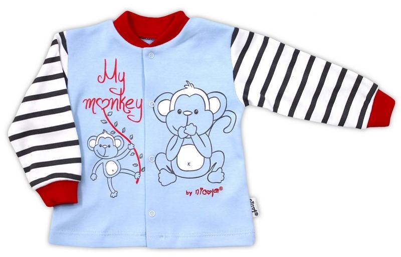 Bavlněná košilka NICOL MONKEY - sv. modrá s