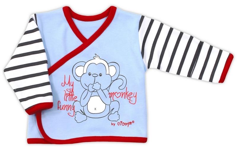 Bavlněná košilka  - sv.modrá Nicol Monkey