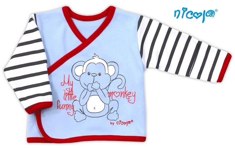 Bavlněná košilka Nicol Monkey - sv.modrá