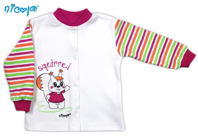 Bavlněná košilka NICOL SQUIRREL - Veverka/bílá s proužkem, Velikost: 80 (9-12m)