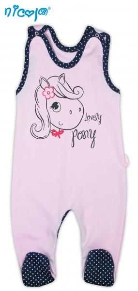 Bavlněné dupačky NICOL LOVELY PONY - Pony v růžové