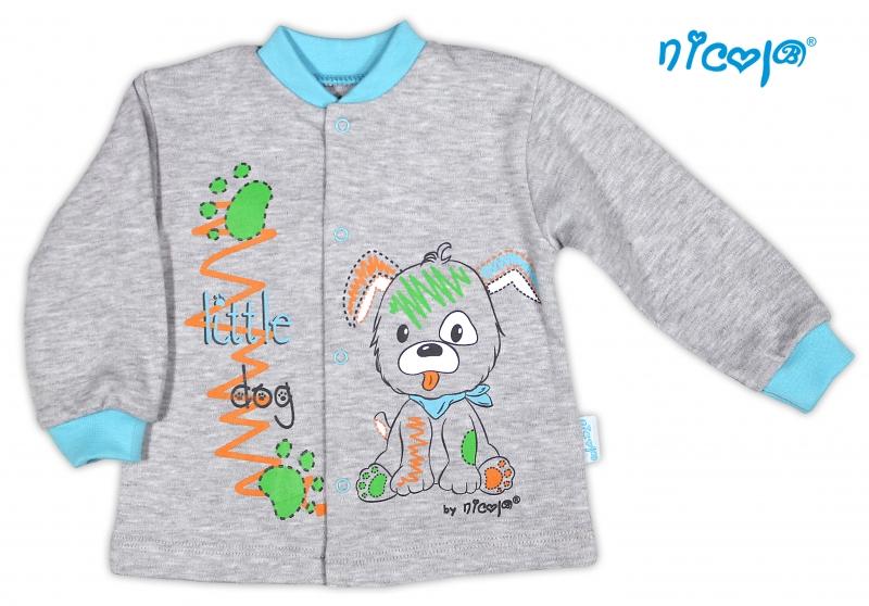 Bavlněná košilka NICOL LITTLE DOG - šedá