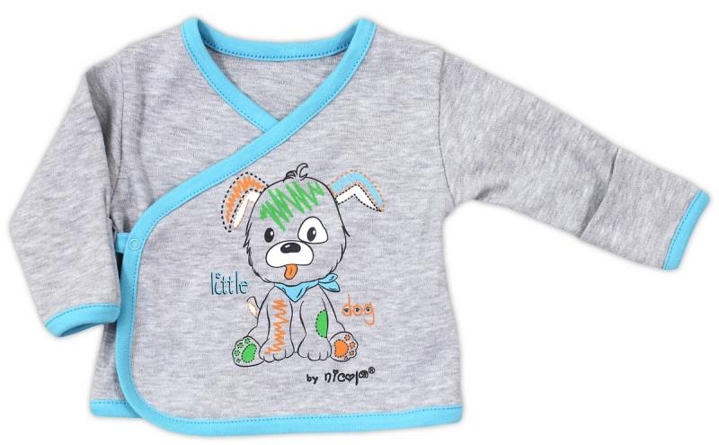 Bavlněná košilka NICOL LITTLE DOG - šedá, Velikost: 68 (4-6m)