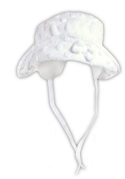 Jarní/letní klobouček NICOL ELEGANT BABY GIRL - na zavazování