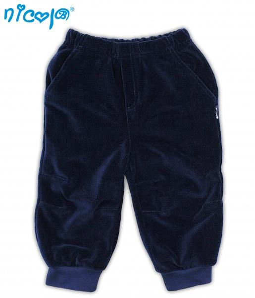 Manšestrové kalhoty NICOL BAGR - tm. modré