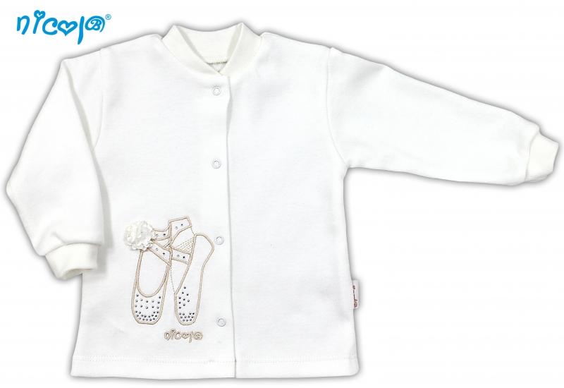 Bavlněná košilka NICOL BALETKA - smetanová, Velikost: 68 (4-6m)