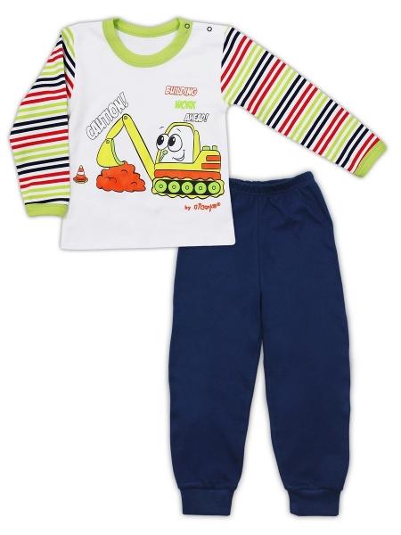 Bavlněné pyžamko NICOL BAGR - tm. modré/bílé