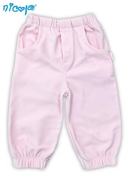 Manšestrové kalhoty NICOL LOVELY PONY - růžové, Velikost: 98 (24-36m)