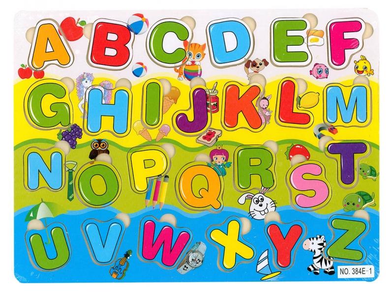 Vkládačka dřevěná - abeceda (Vkládačka dřevěná - abeceda - 1bal)