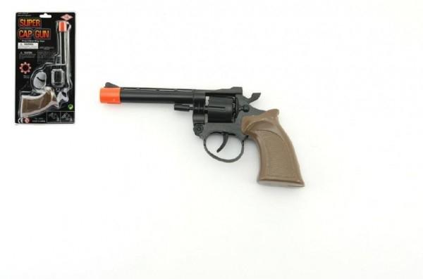 Pistole na kapsle 8 ran plast 19cm na kartě