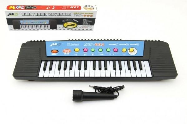 Piánko/Varhany s mikrofonem 44cm 37 kláves na baterie v krabici