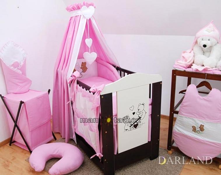 Luxusní 5D set  výšivka CL - Méďové v růžové