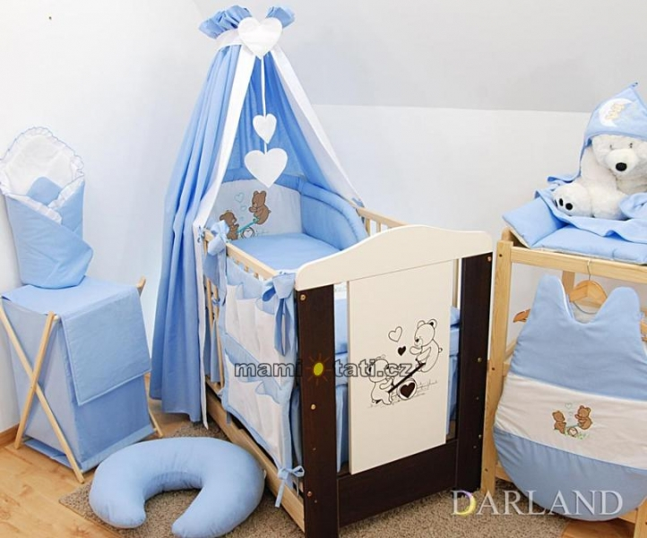 Luxusní 5D set  výšivka CL - Méďové v modré