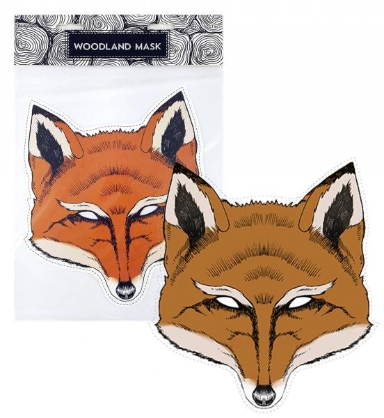 Maska papírová liška