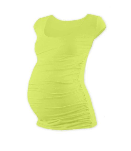 JOŽÁNEK Těhotenské triko mini rukáv Johanka - sv. zelená, L/XL