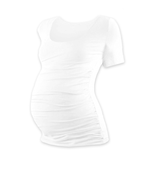 JOŽÁNEK Těhotenské triko krátký rukáv Johanka - bílá