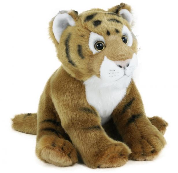 Plyšový tygr sedící, 20 cm