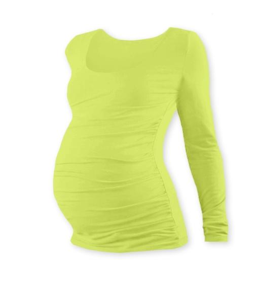 JOŽÁNEK Těhotenské triko Johanka s dlouhým rukávem - sv. zelená