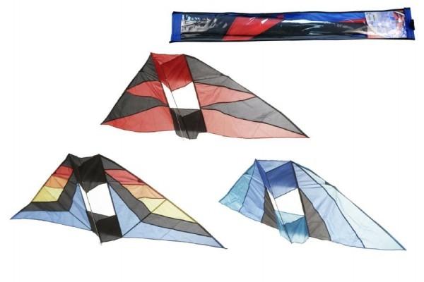 Drak létající nylon 183x81cm asst 3 barvy v sáčku