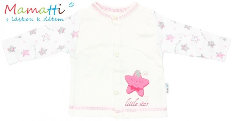 Bavlněná košilka Mamatti - STAR- smetanová/hvězdičky, Velikost: 74 (6-9m)
