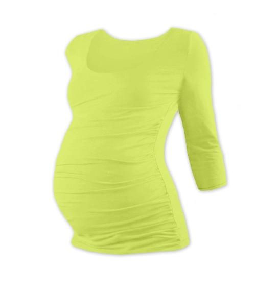 Těhotenské triko 3/4 rukáv Johanka - sv. zelená, vel. L/XL