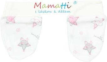 Kojenecké rukavičky Mamatti - STAR - smetanové/hvězdičky
