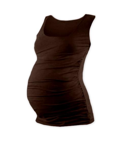 Těhotenský top JOHANKA - čokohnědá