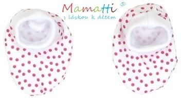 Botičky/ponožtičky BAVLNA Mamatti - SHEEP - červený puntík