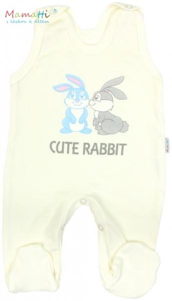 Souprava do porodnice v krabičce Mamatti - CUTE RABBIT - smetanová
