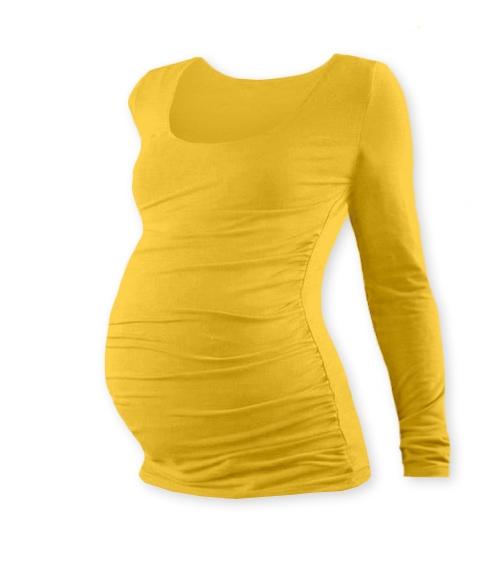 Těhotenské triko JOHANKA s dlouhým rukávem - žlutooranžová