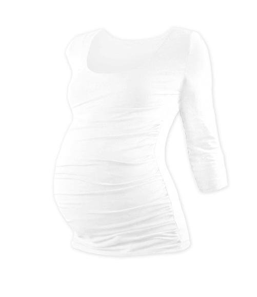 Těhotenské triko 3/4 rukáv JOHANKA - bílá