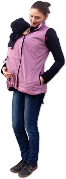 JOŽÁNEK Vesta pro nosící, těhotné - softshellová - růžová