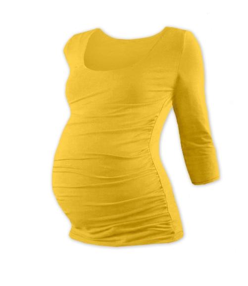 Těhotenské triko 3/4 rukáv JOHANKA - žlutooranžová