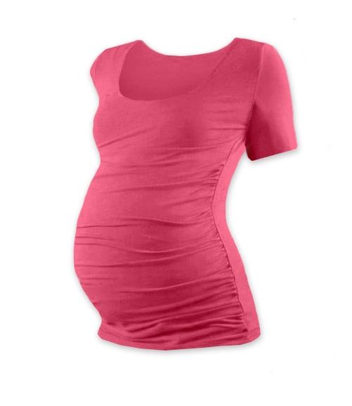 JOŽÁNEK Těhotenské triko krátký rukáv JOHANKA - lososově růžová