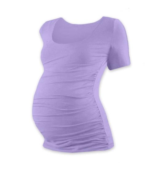 JOŽÁNEK Těhotenské triko krátký rukáv JOHANKA - levandule