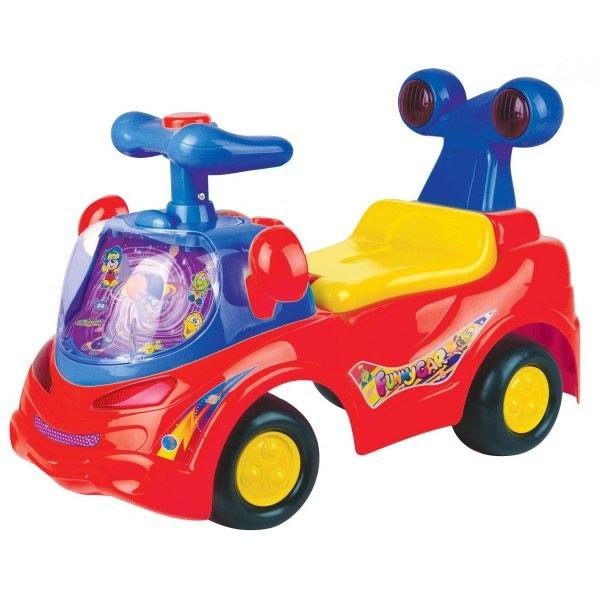 Euro Baby Odstrkovadlo, odrážedlo, jezdítko - FUNNY CAR - červené
