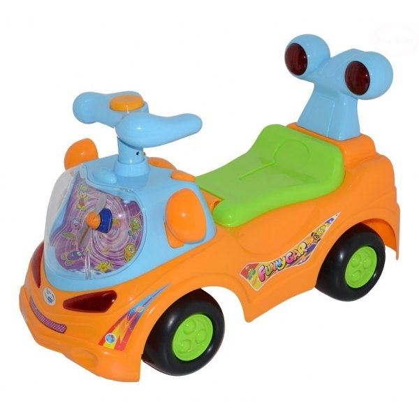 Euro Baby Odstrkovadlo, odrážedlo, jezdítko - FUNNY CAR - oranžové