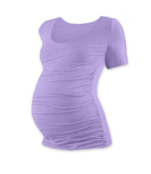 Těhotenské triko krátký rukáv JOHANKA - levandule