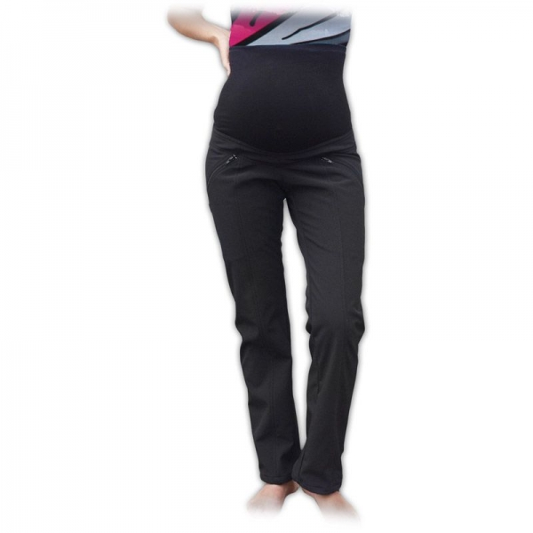 JOŽÁNEK Sportovní těhotenské oteplené softshellové kalhoty, vel. 40