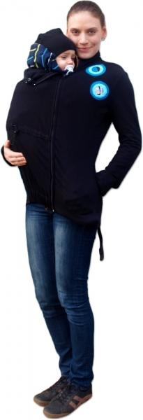 Mikina pro nosící, těhotné - s aplikací tyrkysových koleček