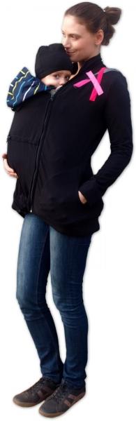 JOŽÁNEK Mikina pro nosící, těhotné - s aplikací růžových proužků
