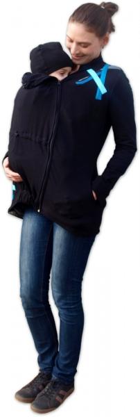 Mikina pro nosící, těhotné - s aplikací tyrkysových proužků