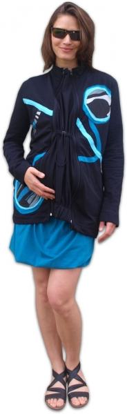 JOŽÁNEK Nosící mikina - pro nošení dítěte v předu i vzadu na těle - tyrkysová aplikace