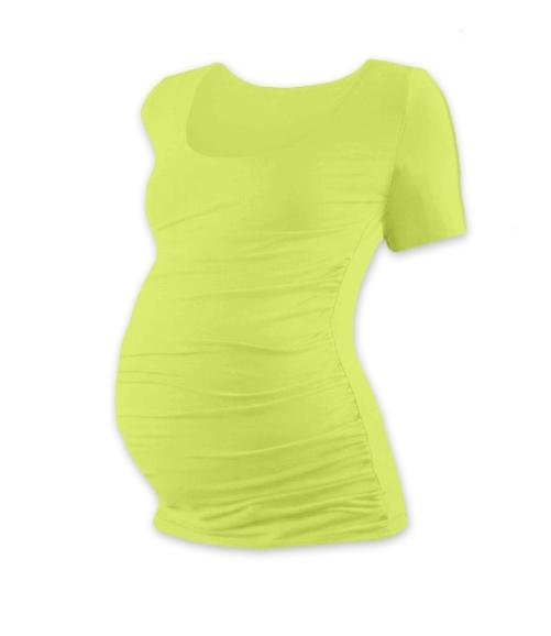 JOŽÁNEK Těhotenské triko krátký rukáv JOHANKA - světle zelená
