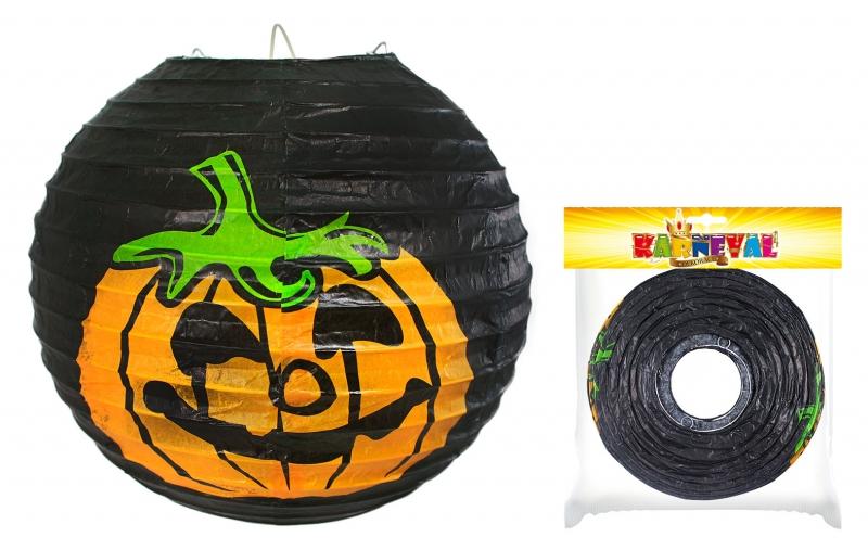 Lampion Halloween veselá dýně vyztužený, 25 cm