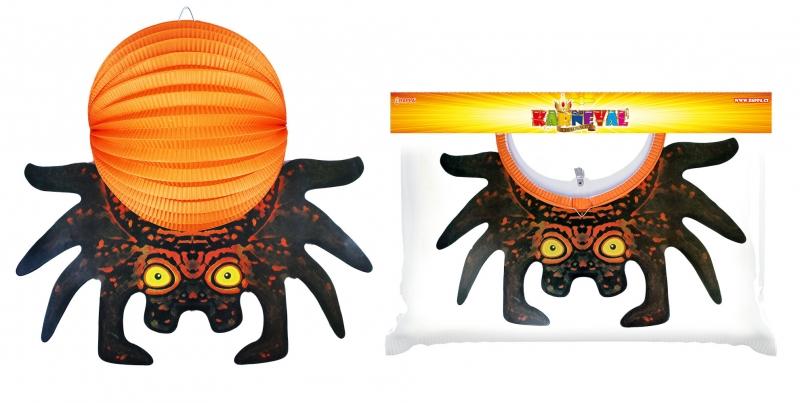 Lampion pavouk 3D, 25 cm